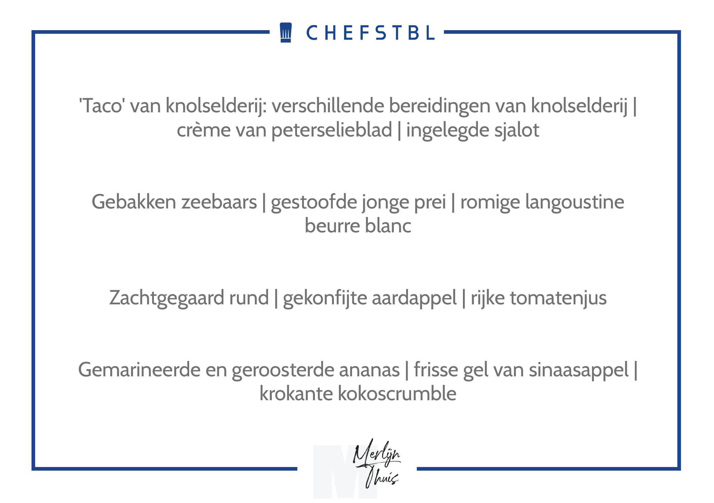 Voorbeeldmenu CHEFSTBL Merlijn Thuis