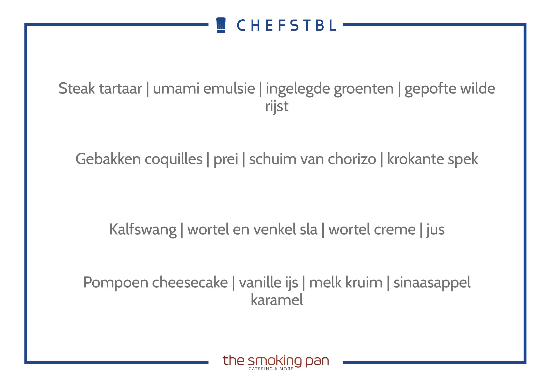 Voorbeeldmenu CHEFSTBL The Smoking Pan