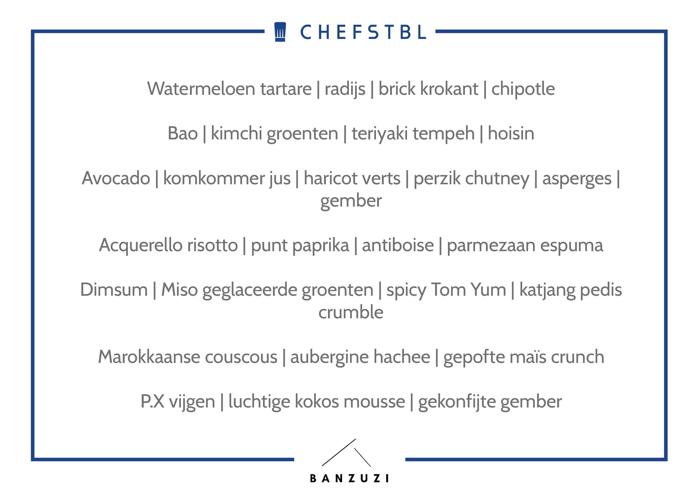 Voorbeeldmenu CHEFSTBL Banzuzi Culinary Services