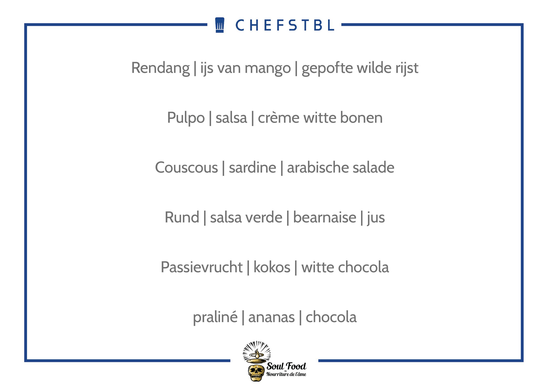 Voorbeeldmenu CHEFSTBL Soul Food