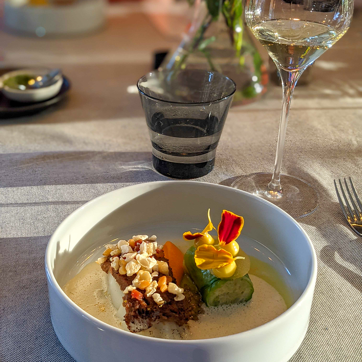 Diner aan huis met wijn