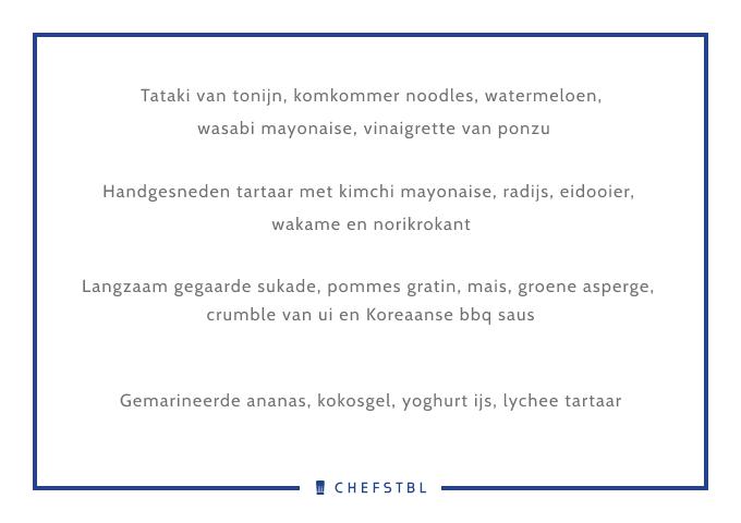 Voorbeeldmenu CHEFSTBL KokenmetJay